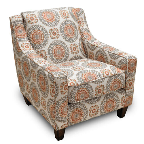 Brianna Accent Chair in Brianne Marmalade Fabric