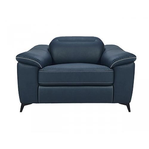 VIG Furniture - Divani Casa Melstone - Modern Blue Leatherette Electric Recliner Chair