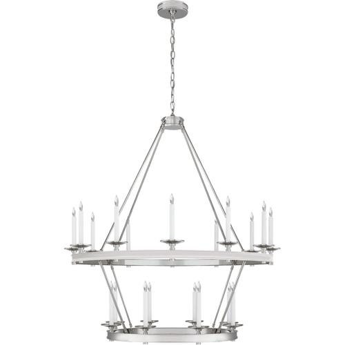 Visual Comfort - Chapman & Myers Launceton 20 Light 43 inch Polished Nickel Two Tiered Chandelier Ceiling Light, Large