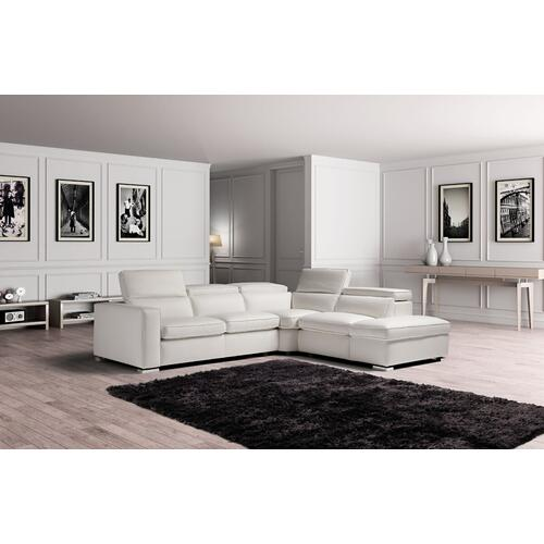 Gallery - Estro Salotti Vertigo - Modern White Leather Right Facing Sectional Sofa with Storage