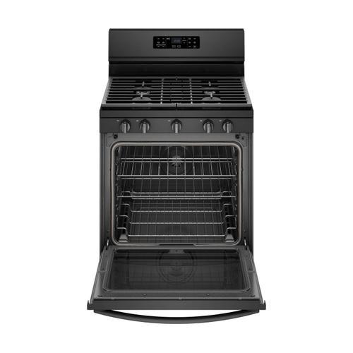 Whirlpool - 5.8 cu. ft. Freestanding Gas Range with Frozen Bake™ Technology Black