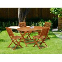 This 5 Piece Acacia Wooden Patio Dining Sets includes one particular Outdoor-Furniture table and four chairs