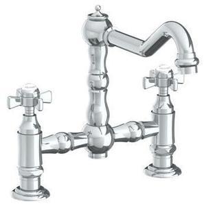 Deck Mounted Bridge Kitchen Faucet Product Image