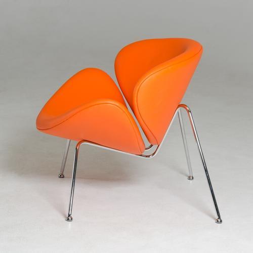 VIG Furniture - Modrest Anais Contemporary Orange Leatherette Accent Chair