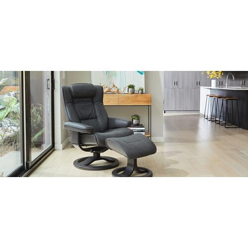Regent R Manual Small Recliner With Footstool