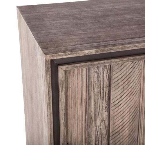 "Driftwood 60"" Sideboard Weathered Graywash"