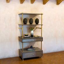 See Details - Elemental™ Storage Set Antique Gray Limestone / 24in / Aged Brass
