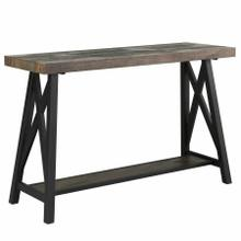 See Details - Langport Console Table in Rustic Oak
