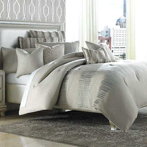 10pc King Comforter Set Neutral