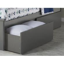 Two Urban Bed Drawers Twin/Full in Atlantic Grey