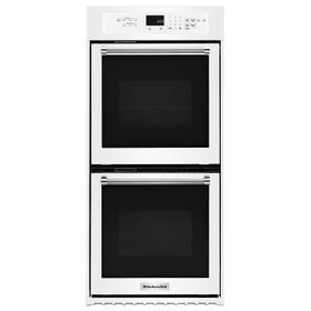 """24"""" Double Wall Oven with True Convection White"""