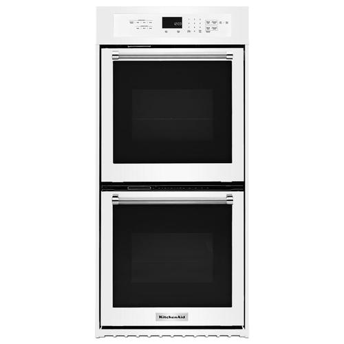 """KitchenAid - 24"""" Double Wall Oven with True Convection White"""
