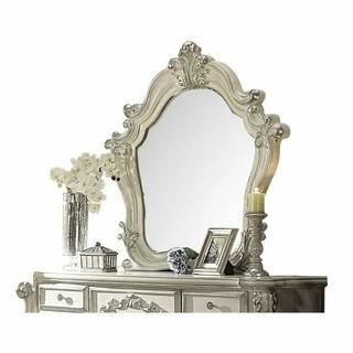 ACME Versailles Mirror - 21134 - Bone White