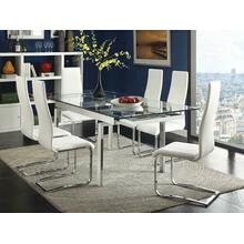 Contemporary Wexford Chrome Dining Table