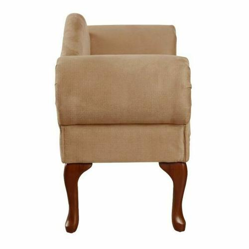 ACME Aston Bench w/Rolled Arm - 05630 - Beige Microfiber