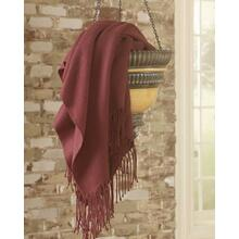 Throw (3/CS) Ashton - Burgundy Collection Ashley at Aztec Distribution Center Houston Texas