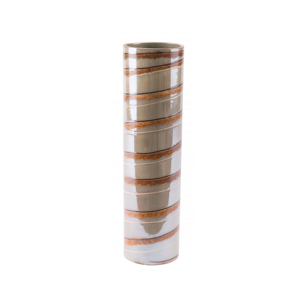 See Details - Large Lined Vase Brown