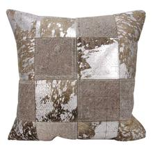 """Couture Nat Hide S6078 Grey/silver 20"""" X 20"""" Throw Pillow"""