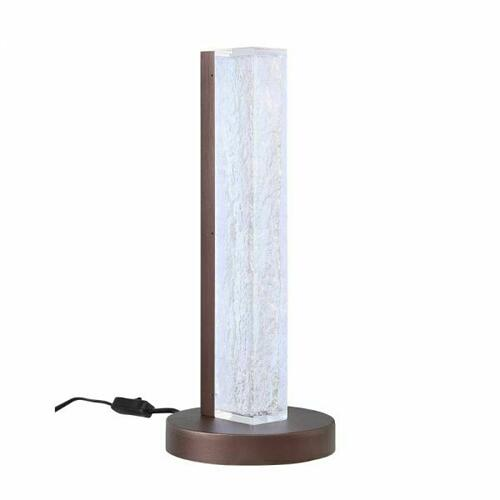 ACME Vreni Table Lamp - 40363 - Modern - Light, Resin, Metal - Clear and Brown