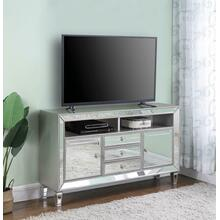 Coaster 722272 Metallic Platinum TV Console