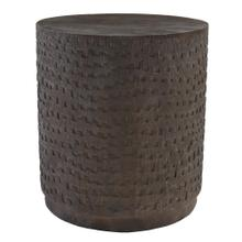 """24"""" Round Barrel End Table"""