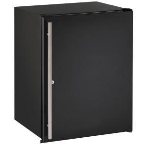 "U-Line24"" Refrigerator With Black Solid Finish (115 V/60 Hz Volts /60 Hz Hz)"
