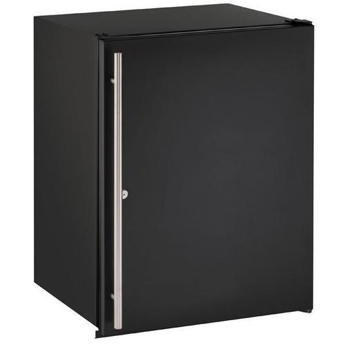 "U-Line - 24"" Refrigerator With Black Solid Finish (115 V/60 Hz Volts /60 Hz Hz)"