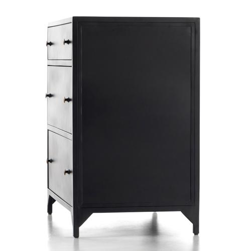 Four Hands - Large Size Black Finish Belmont Storage Nightstand
