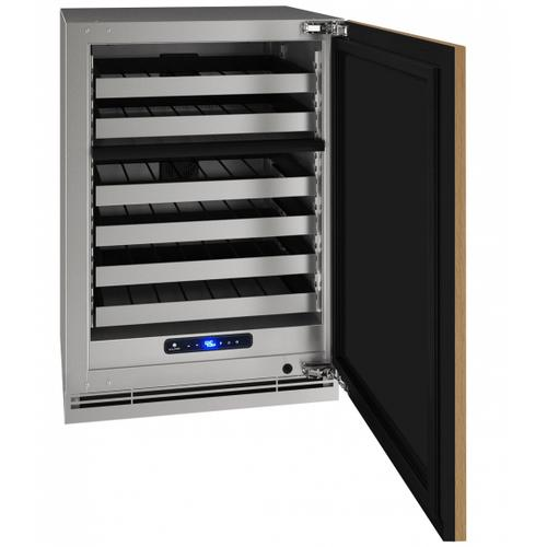 """U-Line - Hwd524 24"""" Dual-zone Wine Refrigerator With Integrated Solid Finish and Field Reversible Door Swing (115 V/60 Hz Volts /60 Hz Hz)"""