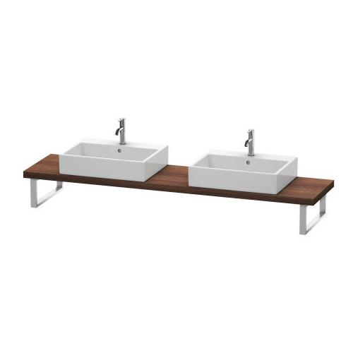 Console For Above-counter Basin And Vanity Basin Compact, Chestnut Dark (decor)