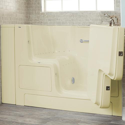Gelcoat Premium Series 32x52 Walk-in Tub with Air Spa and Outward Opening Door, Right Drain  American Standard - Linen