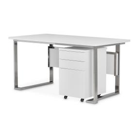 Desk With Drawer Unit (2 Pc)