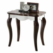 ACME Mathias End Table - 80682 - Walnut & White