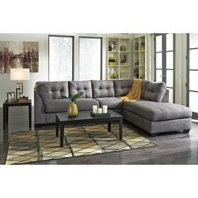 Charcoal Gray Sofa Chaise - RSF