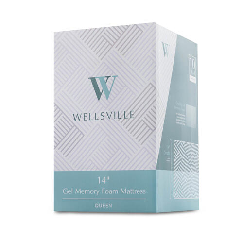 Wellsville 14 Inch Gel Foam Mattress Queen