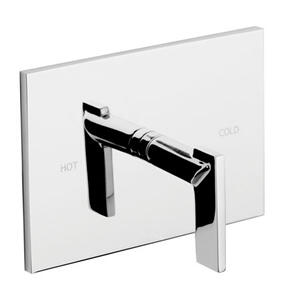 Midnight Chrome Balanced Pressure Shower Trim Plate with Handle. Less showerhead, arm and flange.