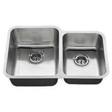 See Details - American Standard Undermount 31x20 Offset Double Bowl Sink - Stainless Steel