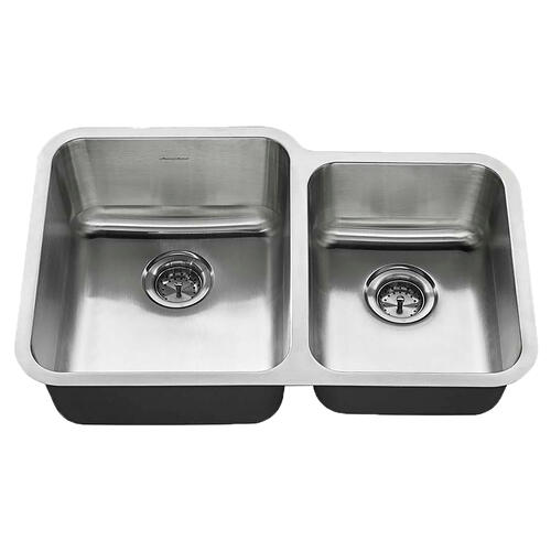 American Standard - American Standard Undermount 31x20 Offset Double Bowl Sink - Stainless Steel