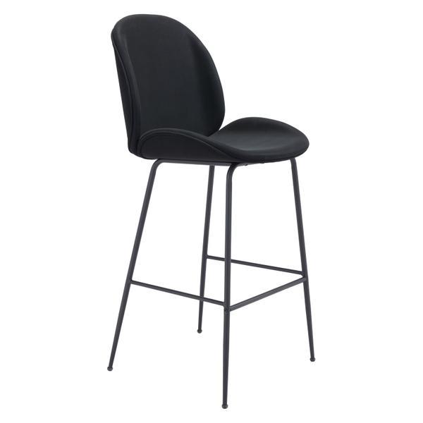 See Details - Miles Bar Chair Black