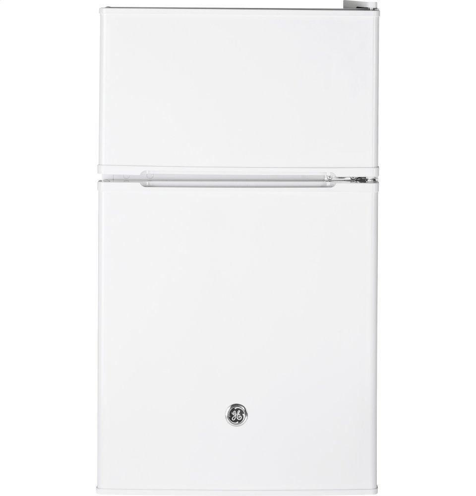 GEDouble-Door Compact Refrigerator