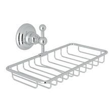 See Details - Wall Mount Double Soap Holder Basket - Polished Chrome