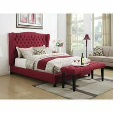 ACME Faye Eastern King Bed - 20887EK - Red Linen