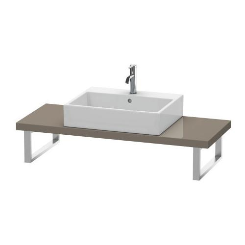 Duravit - Console For Above-counter Basin And Vanity Basin Compact, Flannel Gray High Gloss (lacquer)