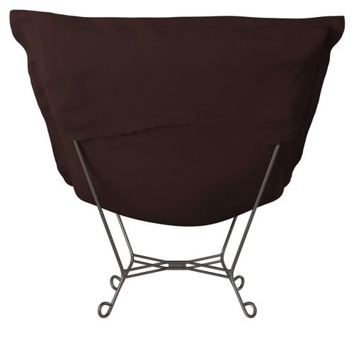 Howard Elliott - Scroll Puff Chair Sterling Chocolate Titanium Frame