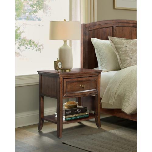 John Thomas Furniture - 1 Drawer Nightstand in Cognac