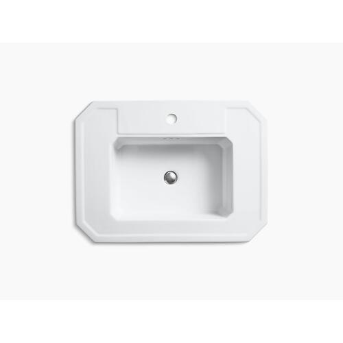 Dune Pedestal Bathroom Sink With Single Faucet Hole