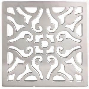 "White 6"" Square Shower Drain"