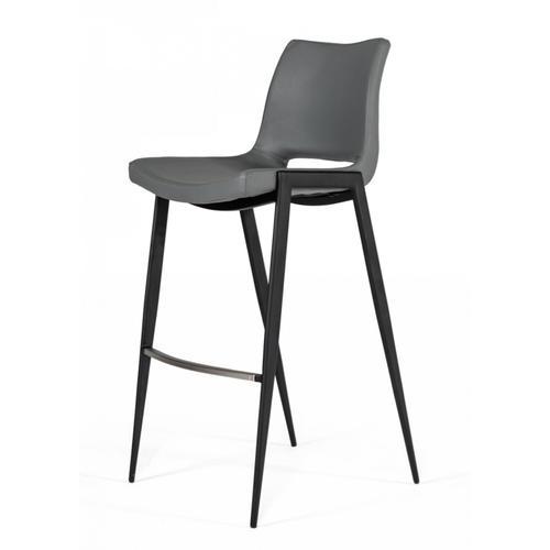 VIG Furniture - Modrest Bitely - Modern Gray Eco-Leather Bar Stool (Set of 2)