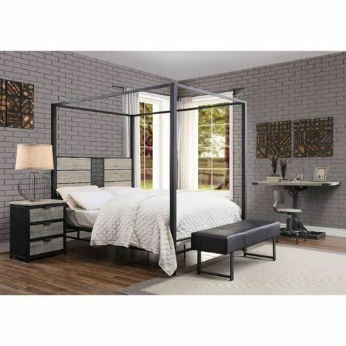 ACME Baara Queen Bed - 22040Q - Natural & Sandy Gray