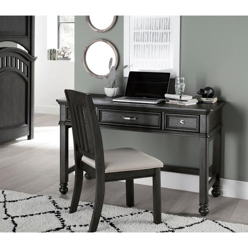 Kids Three Drawer Computer Desk in Charcoal Brown